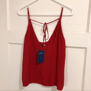 Brandy Melville Brick Red Front Tie Cami Top sz S